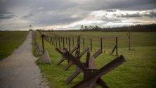 Граничен пост край бившата ограда от Желязната завеса на границата между Австрия и Чехия край Чижов.