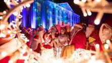 Членове на централата на Дядо Коледа в Берлин се събират на ежегодна среща в града.