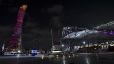 """Стадион """"Халифа"""" в Доха, Катар, където ще се състои полуфинала от Световната купа на клубните футболни отбори на 18 декември."""