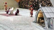 Папа Франциск по време на генерална аудиенция във Ватикана преди коледните празници.