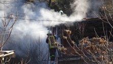 Пожар горя в къща край Благоевград