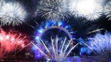 Лондон посреща новата 2020 година