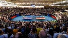 Отбори пеят нациналните си химни на ATP Cup