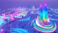 Леденият фестивал в китайски град Харбин