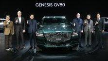 Hyundai Motor представя новия си сув модел GV80 в Гоян, Южна Корея.