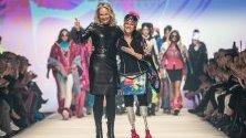 Джузепина Версаче представя създаването на модната марка Sportalm по време на Седмицата на модата в Берлин.