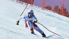 Йохана Хехлен от Швейцария по време на Световната купа по ски алпийски дисциплини в Банско.