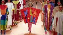 Испанската дизайнерка Агата Руис де ла Прада с модно ревю по време на Седмицата на модата в Мадрид.