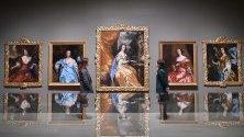 """Картини на Антонио Верио в галерия """"Тейт"""" в Лондон част от изложбата """"Британски барок - сила и илюзия""""."""