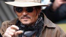 "Джони Деп пристига на кинофестивала ""Берлинале"" за прожекция на филма `Minamata`."