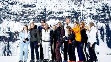 Холандското кралско семейство позира за медиите по време на зимната си ваканция в Лех, Австрия.