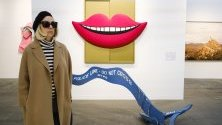 """Творба """"Устни"""", изложена на годишния арт фестивал Armory Show в Ню Йорк, на което се представят галерии от целия свят."""