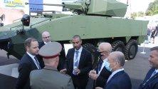 Patria и Elbit Systems  демонстрират бойната машина  Patria AMVXP 8x8 с обитаем купол Elbit 30 мм на изложението ХЕМУС 2020, което се провежда от 30.9. до 3.10.2020 г. в Пловдив.